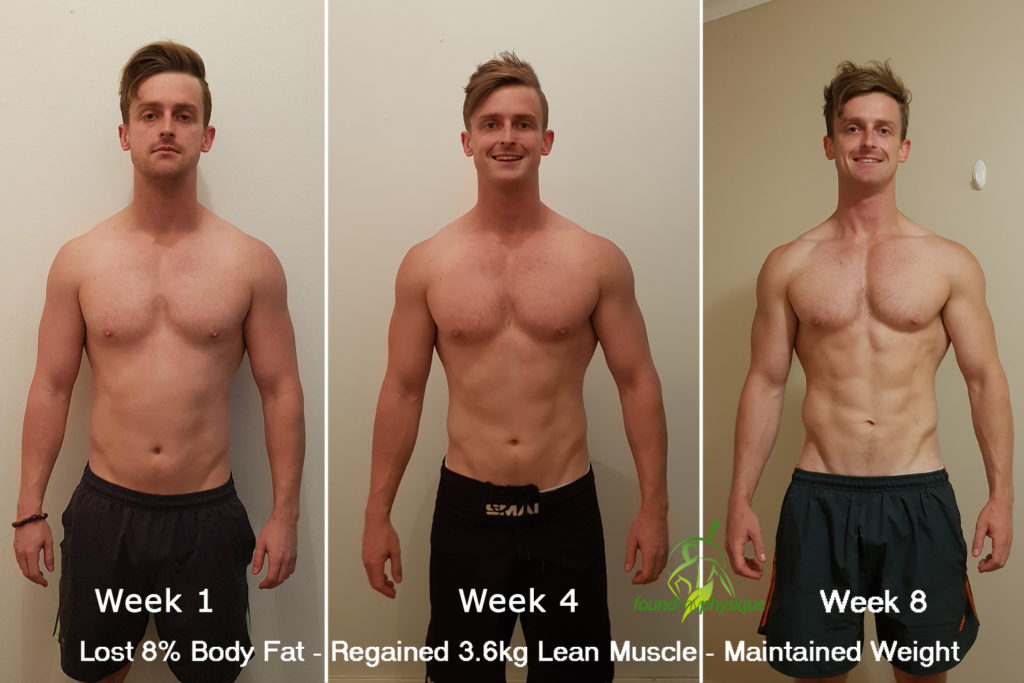 8 Week Intermittent Fasting Shred Transformation Photos Nutrition Tips